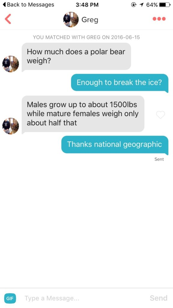 Break The Ice Pick Up Line