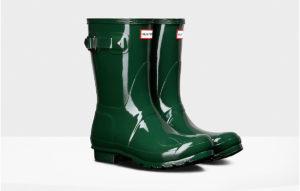 Women's original short gloss rain boots for $140 at hunterboots.com