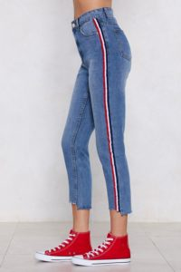 $60 you're absolutely stripe high-waisted jeans from nastygal.com