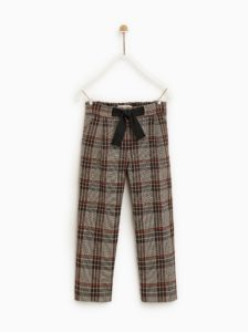 Plaid pants with bow for $36 USD from zara