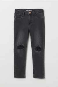 Skinny Fit High Worn Jeans for $30 CAD from hm.com