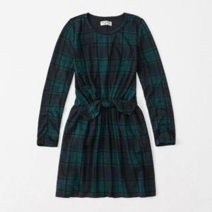 Tie-front plaid dress, $37 CAD, abercrombie.ca