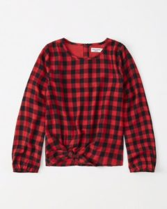 Tie-front top for $33 CAD from abercrombie.ca
