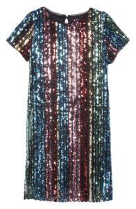Trixxi rainbow sequin stripe dress for $54 USD from nordstrom.com