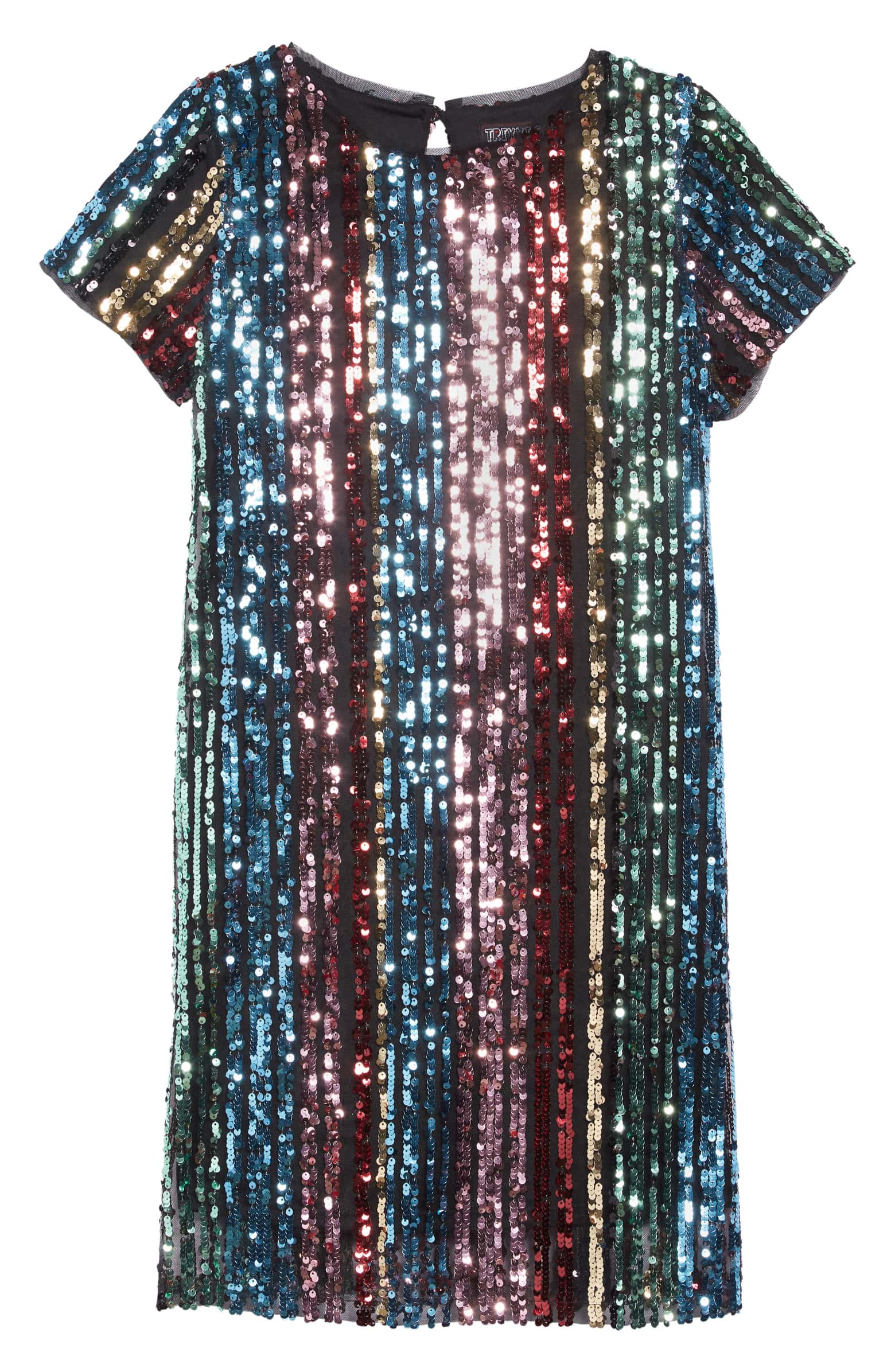 77dbd34912e0 Trixxi rainbow sequin stripe dress, $54 USD, nordstrom.com