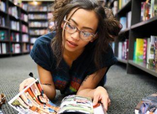 reading comic book