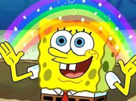 spongebob rainbow
