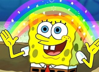 spongebob rainbow