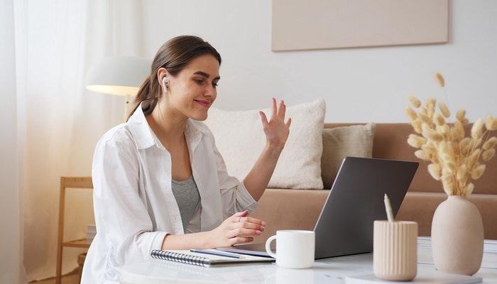 woman-hosting-virtual-event