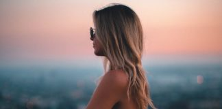 sunset-girl-time
