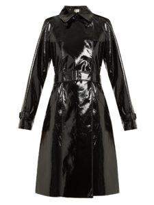 Diane Von Furstenberg double breasted vinyl trench coat, $980, matchesfashion.com