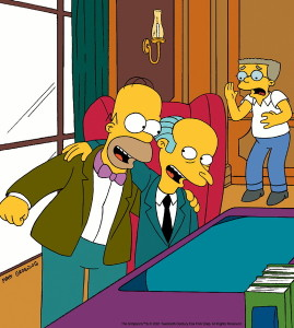 Homer and Smithers