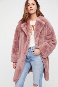 Rita fur coat, $168, freepeople.com
