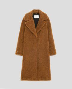 long textured coat, $149, zara.com