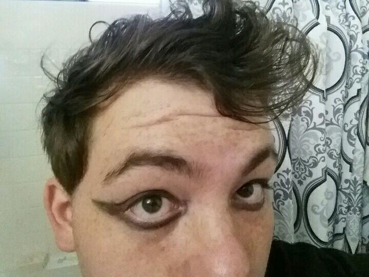 really bad eyeliner